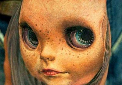 3D-тату-лицо-девочки