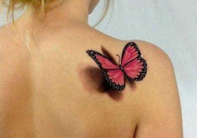3D-тату-бабочка