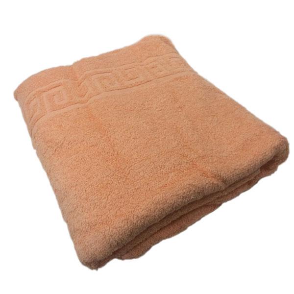 полотенце-махровое-персиковое